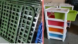 Metle Beds , Matreses , Good Plastic Racks / Mini Ward robes / Shelves