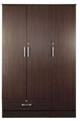 Mintwood Three Door Wardrobe in Walnut Finish