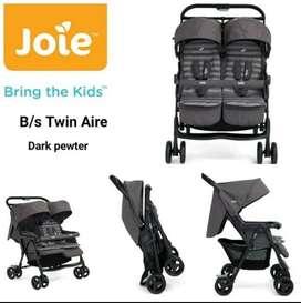 Stroller Kembar Joie Twin Sure warna Grey (Dark Pewter)