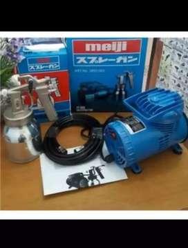 Mini Compressor Set Meiji PT-888 + Spray Gun Kompresor Portable