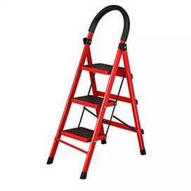 3 Step Folding Ladder Red