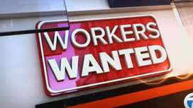 Fresh staff required for indoor office work