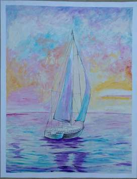 boat paintings for interior decoration
