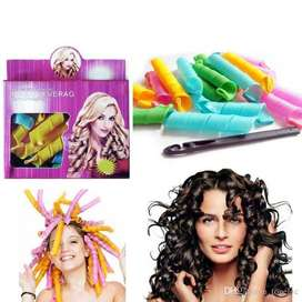 Magic Leverage Hair Rollers Curlers Use After Shower Without Heat