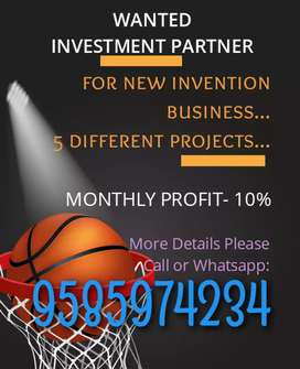 Wanted investment partner