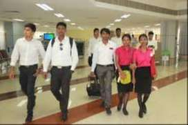 Ground staff Job vacancy in airlines job freshers/Experience - male -