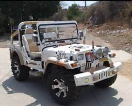 White modified willy's jeep for sale