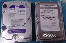 DVR-HDD-2TB,HDD-500GB
