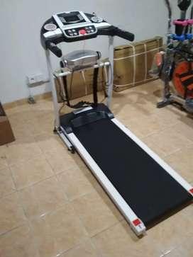 Treadmill listrik 3in1 putih