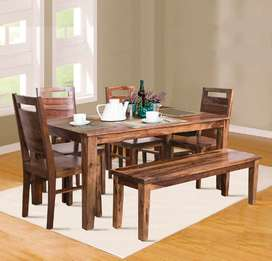 Brand New 6 Seater Dining in Sheesham Wood.Factory Price.PepperF Piece