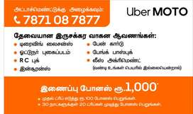 uber moto bike taxi monthly earnings rs,,,35000