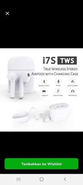 Headset Handsfree Earphone Bluetooth Tws i7s Airpods Wireless