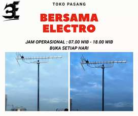 Agen instalasi pemasangan signal antena tv luar