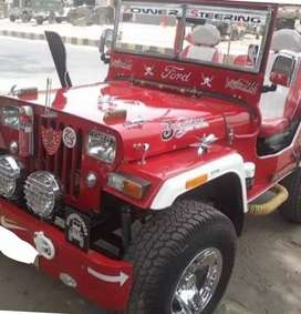 Red modified Willy jeep