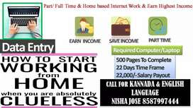 Good payment guaranteed income data entry part time job