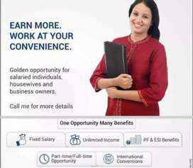 Required retire person, house wife for financial advisor.