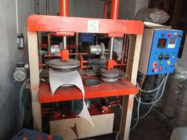 Fully automatic double dye hydraulic paper plate machinev
