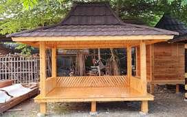 Saung gazebo kayu jati belanda ukuran 3×2