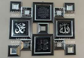 Mirror Art Calligraphy Frames Wall Hangings Office Home Decor Shop