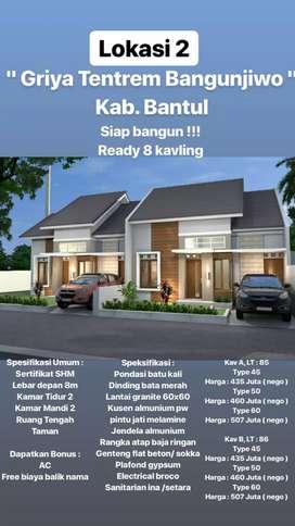 Bangunjiwo Bantul / Belakang perumahan Padma Residence