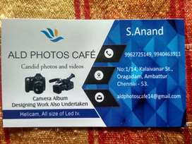 Hai we are doing all types of candid canvera album designing work.