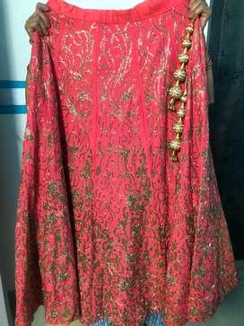 Beautiful pink / red / coral Lehenga