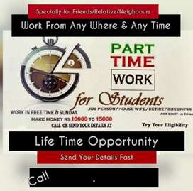PART TIME WORK FOR STUDENT
