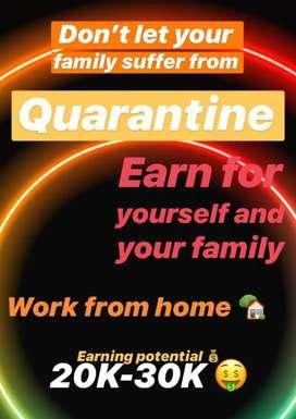 Earn through social media, work from home