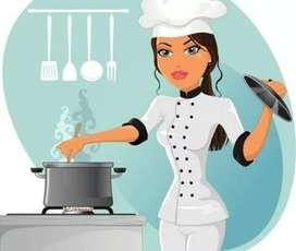 Required Full time cook and helper Ghar ke liye... Rehna Khana free.