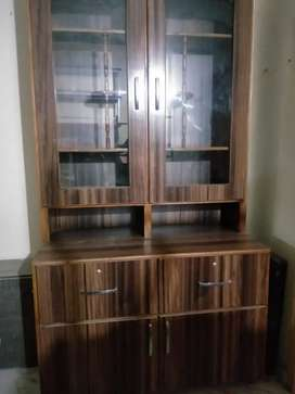 Portable Showcase/displaycase/ exhibition cabinet for dishes/books etc