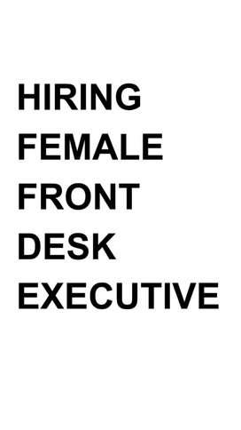 Hiring Front Desk Executive