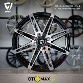 Velg Mobil Wheel Reem (E056) Ring 15 Black Machine Face