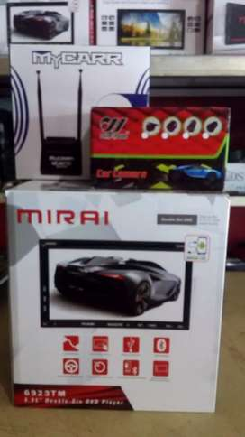 Double din tv Thump+Antena tv booster+Camera Mundur+psang