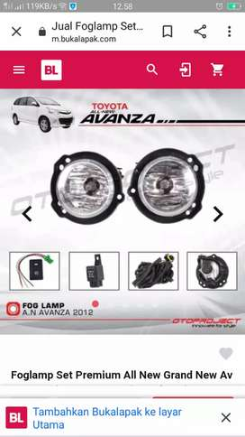 Foglamp all new avanza complit mika kaca