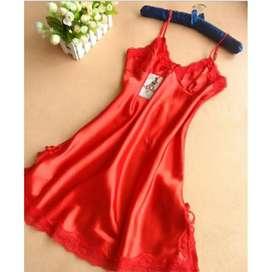 Baju tidur Sexy Women Silk Satin Nightdress