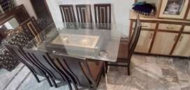 8 Chairs Dinning table shesam wood solit