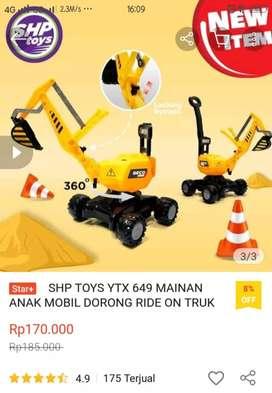 Mainan Outdoor Mobil Dorong, Alat Berat Beco