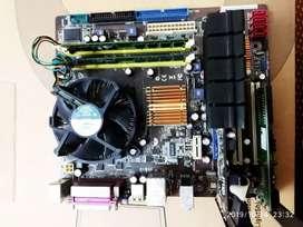 Motherboard asus 3 gb ram intel dual core 2.3 ghz processor +fan
