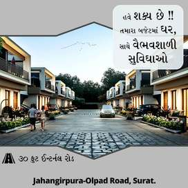 2BHK Row House for sell in the prime location of Jahangirpura Olpad Rd