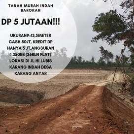 Di Jual Tanah Kavling, Cash Dan Kredit, DP Hanya 5 Jutaan !!!