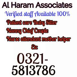 We are provide All verified staff House maid cook