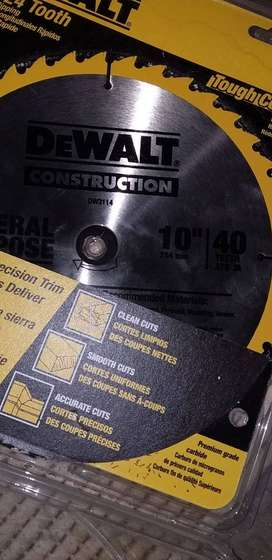Dewalt new 10 and 12 Inches Blades, Made in Usa