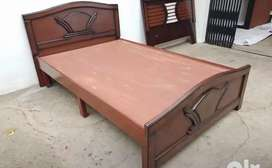 "New 5""6 queen wooden double cot 6500 mattress 3500 free delivery"