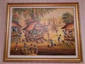 Dijual lukisan berikut framenya