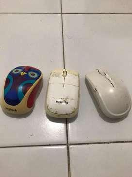 mouse wireless komputer/pc/mac borongan