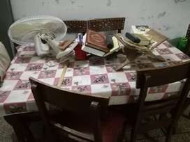 Dinning Table and 6 Chairs of Wood For Sale