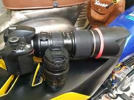 Nokon 3200 plus lensa tamronAF 70-200