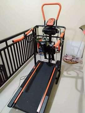 Harga promosi treadmill manual 6 fungsi lengkap