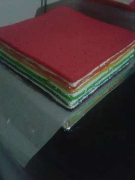 Rainbow cream cake