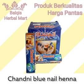 Pacar Kuku Chandni Nail Henna Blue Biru